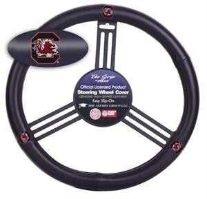 South Carolina Gamecocks Leather Steering Wheel Cover