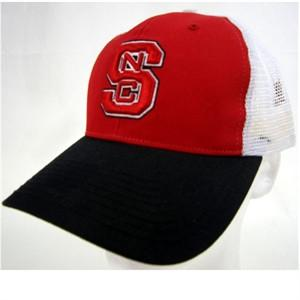 NC North Carolina State Wolfpack Mesh Back Cap – Red on White