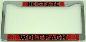 North Carolina State Wolfpack Car Tag Frame – Heavy Duty Plastic