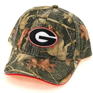Georgia Bulldogs Camouflage Cap- Red Trim