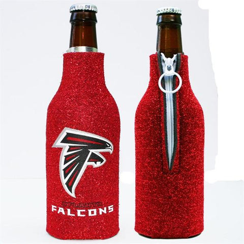 Atlanta Falcons Bottle Coozie- Glitter