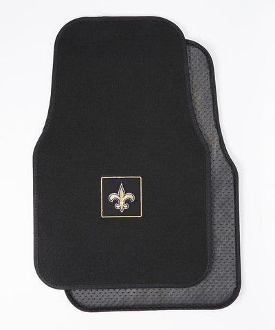 New Orleans Saints Car Mat Set- Black