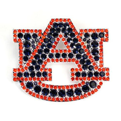 Auburn Tigers Brooch Pin with Crystals