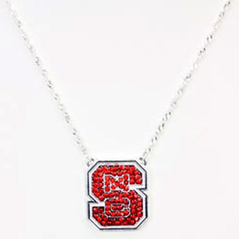 NC North Carolina State Wolfpack Necklace- Crystal Seasons