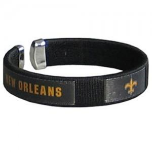 New Orleans Saints Bracelet- Cuff Ribbon