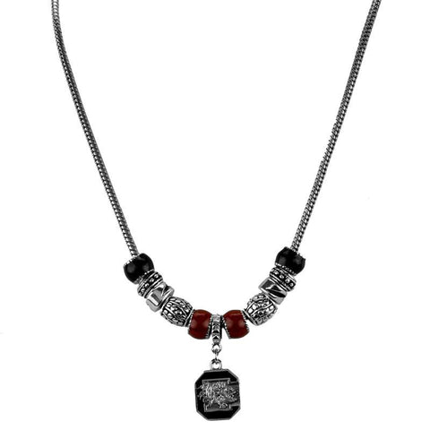 South Carolina Gamecocks Charm Necklace