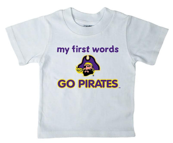 East Carolina Pirates Infant T-Shirt- First Words