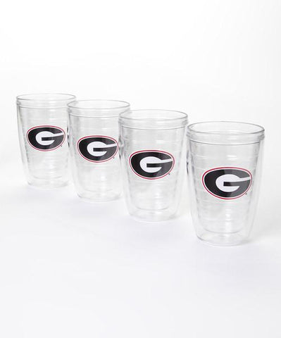 Georgia Bulldogs 4 pc. Insulated Tumbler Set – Clear 'G'