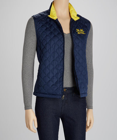 Michigan Wolverines Navy Quilted Vest