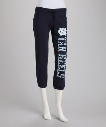 North Carolina Tar Heels Capri Sweatpants – Navy Blue