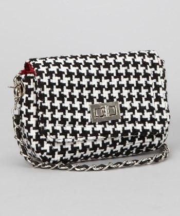 Houndstooth Chanel Style Clutch Purse