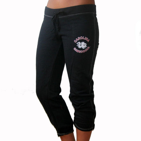 South Carolina Gamecocks Capri Sweatpants- Glitter Logo
