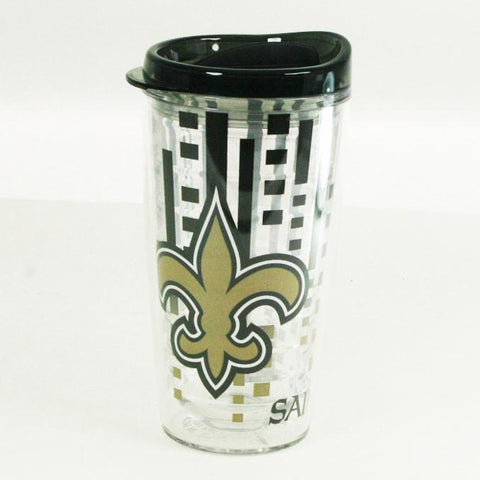 Officially Licensed, New Orleans Saints Tumbler- 16oz Slimline with Lid
