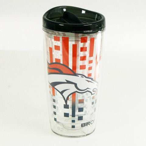 Officially Licensed, Broncos Tumbler- 16oz Slimline with Lid
