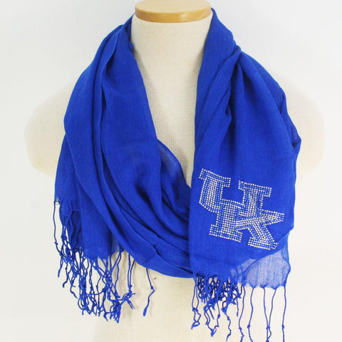 Kentucky Wildcats Scarf- Royal Viscose with Fringe