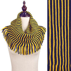 San Diego Chargers Knit Infinity Scarf – Navy Blue & Yellow