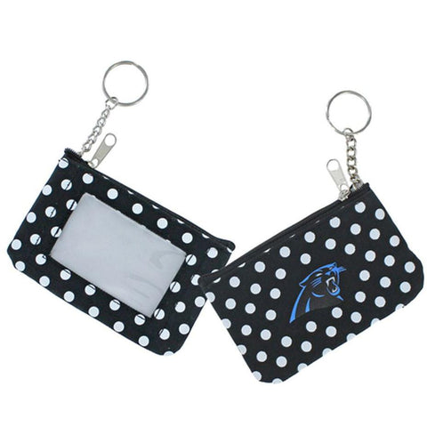 Carolina Panthers Coin Purse I.D. Wallet- Polka Dot