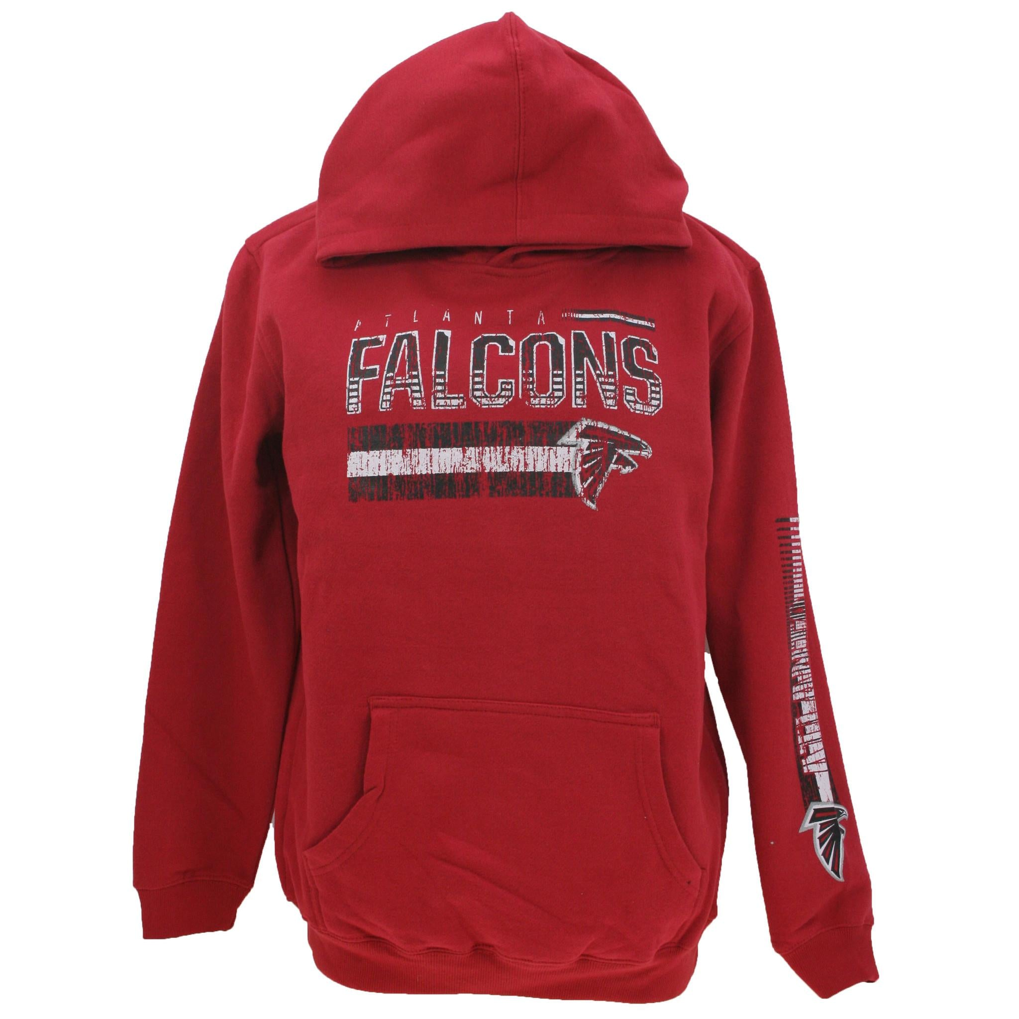 Atlanta Falcons Pullover Youth Hooded Sweatshirt- Red