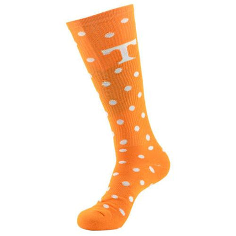 Tennessee Vols Ladies Socks Polka Dots