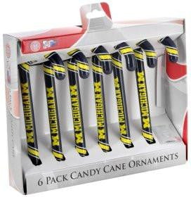 Michigan Wolverines Candy Cane Set
