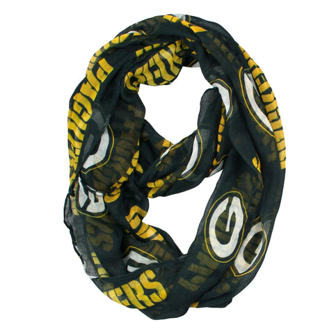 Green Bay Packers Scarf- Sheer Infinity