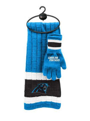 Carolina Panthers Scarf Glove Set