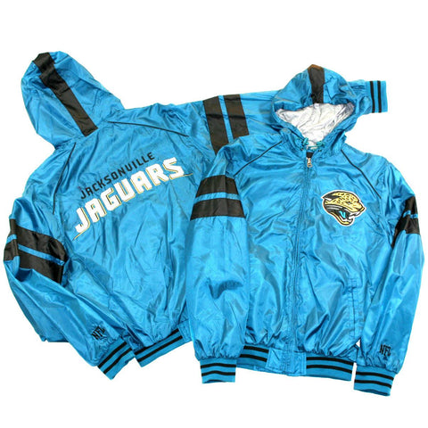 Jacksonville Jaguars Windbreaker- Teal Zip Front with Hood