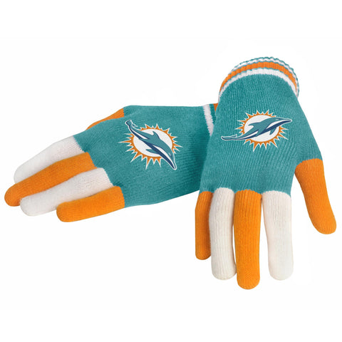 Miami Dolphins Knit Glove- Multi Color