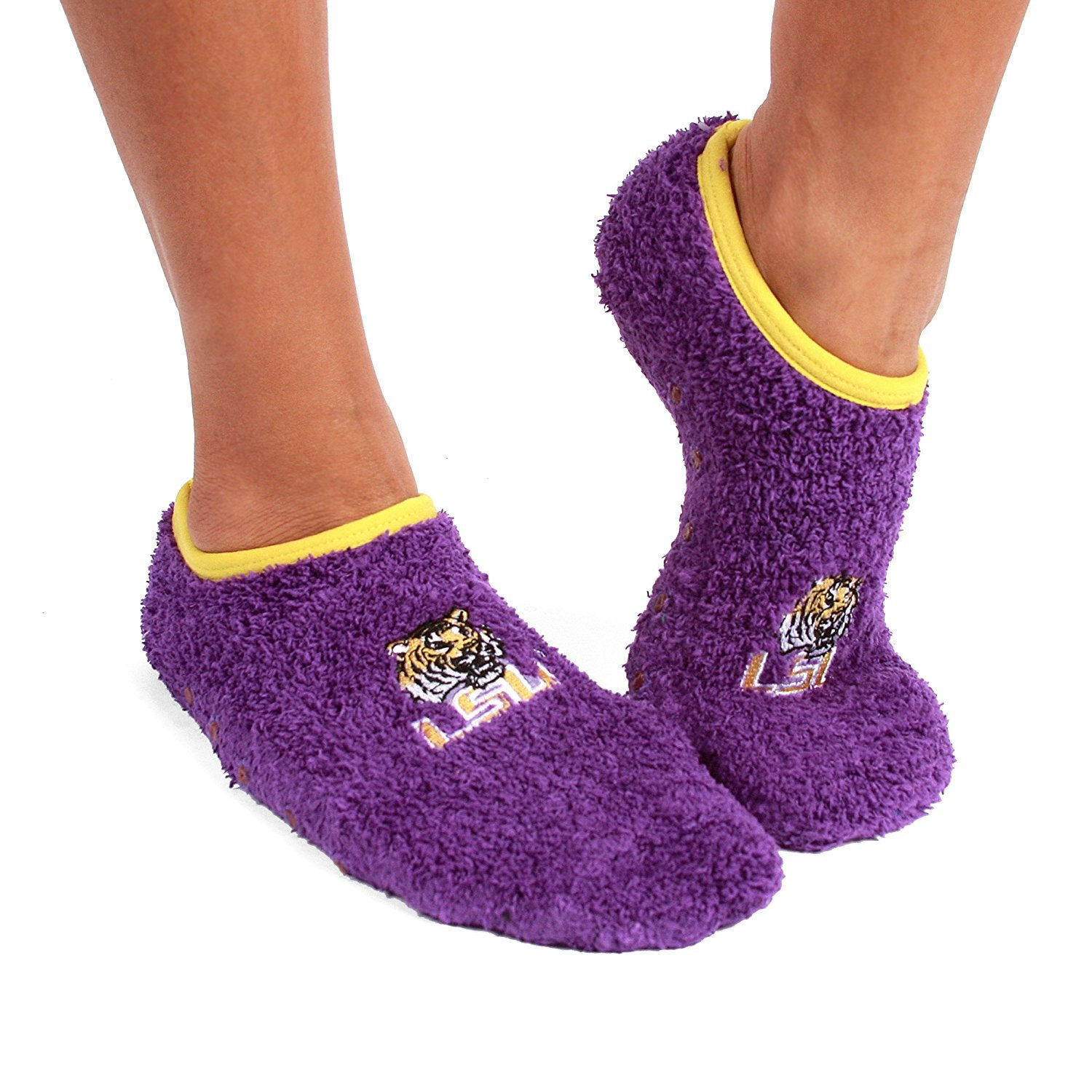 LSU - NCAA Unisex Foot-Z-Sox Slipper Socks