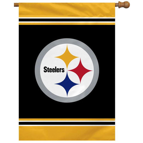 "Pittsburgh Steelers Flag – 28"" x 40"" House Flag"