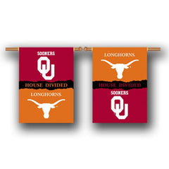 Texas Longhorns Flag – Two Sided House Divided Banner