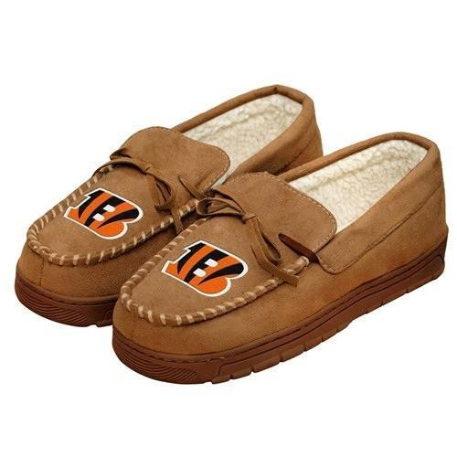 CINCINNATI BENGALS NFL Mens Moccasin Slippers