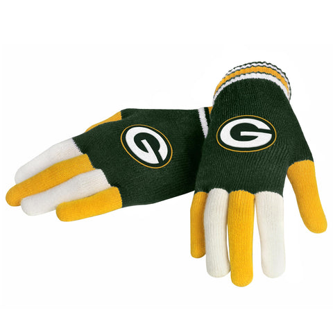Green Bay Packers Knit Glove- Multi Color
