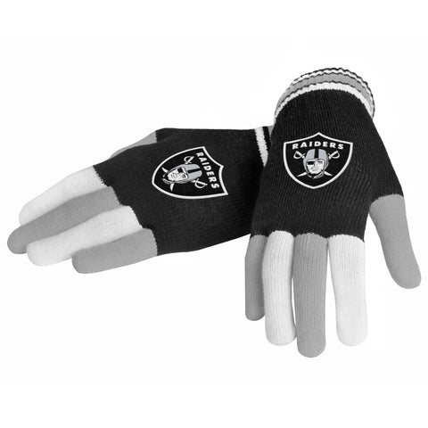 Oakland Raiders Knit Glove- Multi Color