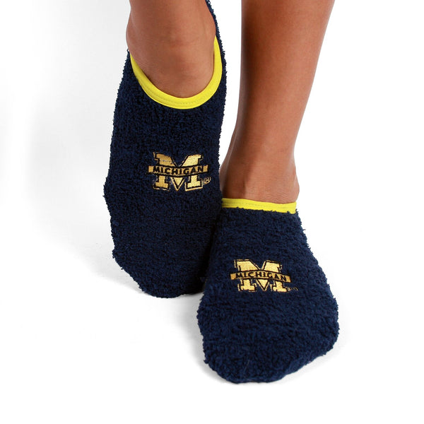 Michigan Wolverines - NCAA Unisex Foot-Z-Sox Slipper Socks