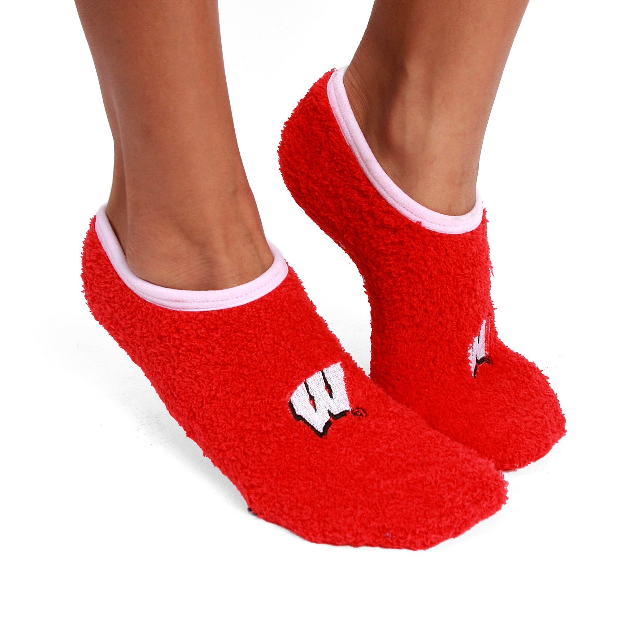 Wisconsin Badgers  - NCAA Unisex Foot-Z-Sox Slipper Socks