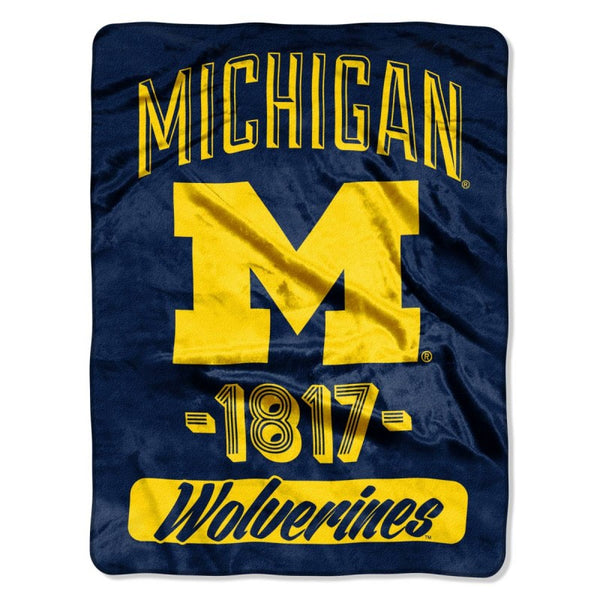 "Michigan Wolverines ""Varsity"" Micro Raschel Throw"