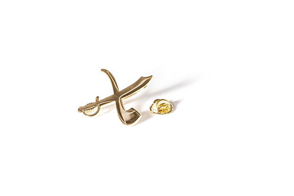 Flight School Apparel Pins Gold