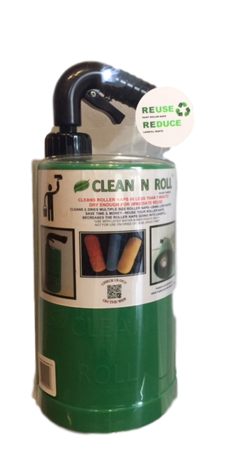 BE GREEN - SAVE GREEN! CLEAN N ROLL - the fast, easy eco-friendly way to clean your paint roller naps!