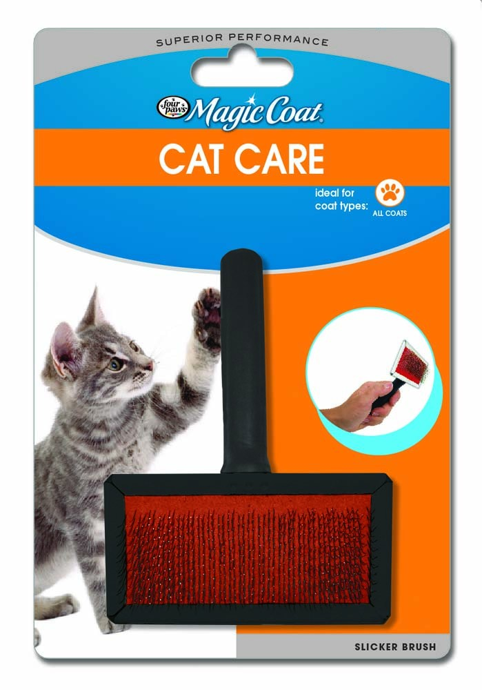 Four Paws Tender Touch Slicker Wire Brush for Cats