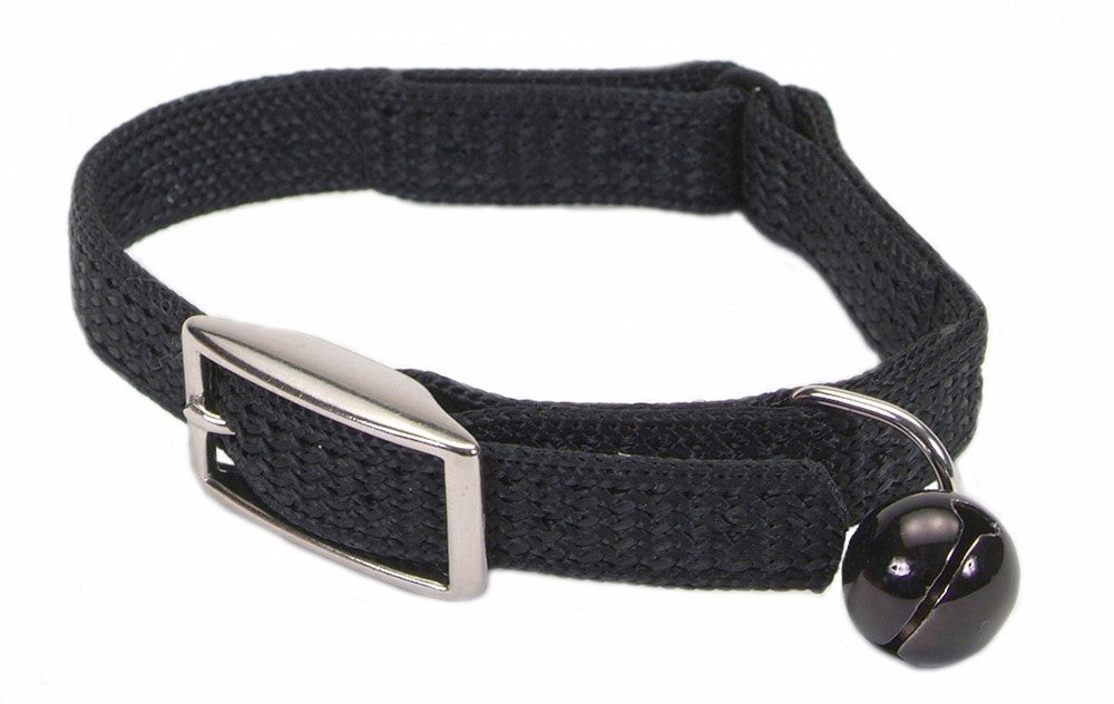 Coastal Sassy Snag-Proof Nylon Safety Cat Collar Black
