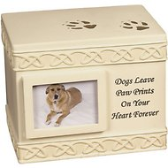 AngelStar Paw Prints Photo Frame Dog Urn
