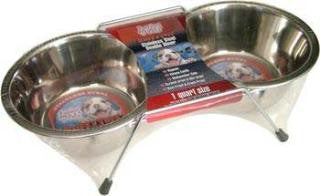 Stainless Steel Packaged Double Diner  (Pet Bowls)