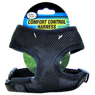 Four Paws Comfort Control Dog Harness - Black