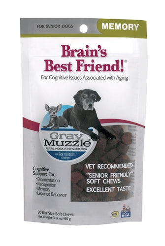 Ark Naturals Gray Muzzle Memory Health Senior Dog Treats