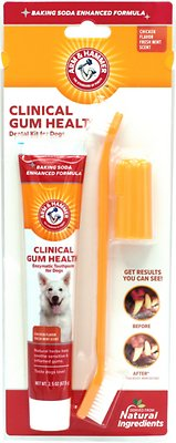 Arm & Hammer Dental Clinical Gum Health Dog Toothpaste & Brush Kit