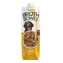 Fruitables Chicken Broth Bowls for Dogs Food Topper