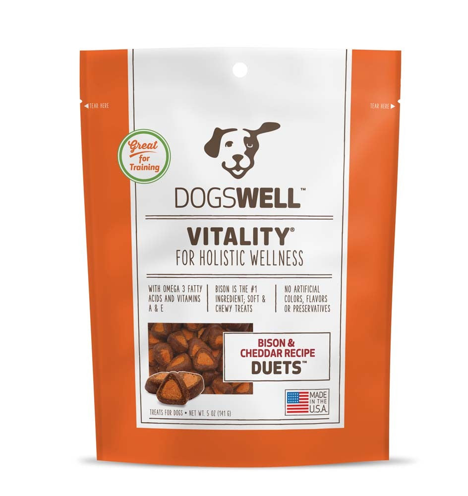 Dogswell Vitality Duets Bison & Cheddar Recipe Dog Treats