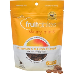 Fruitables Pumpkin & Mango Skinny Minis Soft and Chewy Dog Treats