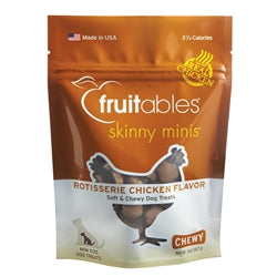 Fruitables Rotisserie Chicken Skinny Minis Soft and Chewy Dog Treats